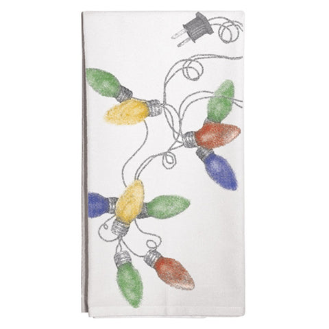 Montgomery Street Christmas Lights Cotton Flour Sack Dish Towel