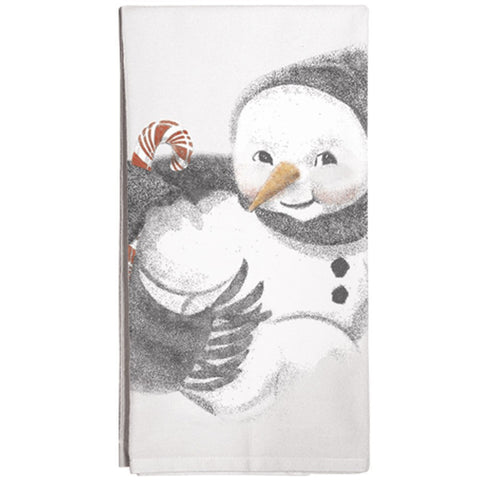 Montgomery Street Snowman Cotton Flour Sack Dish Towel - The Barrington Garage