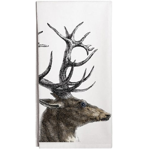 Montgomery Street Deer Antlers Cotton Flour Sack Dish Towel - The Barrington Garage