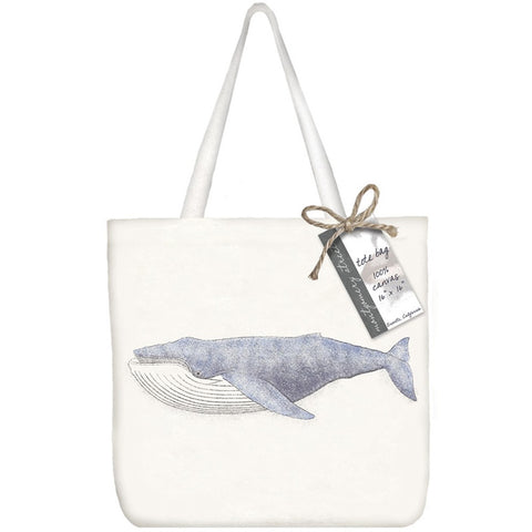 Montgomery Street Blue Whale Cotton Canvas Tote Bag - The Barrington Garage