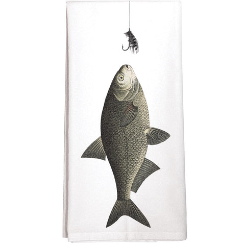 Montgomery Street Fish Lure Cotton Flour Sack Dish Towel
