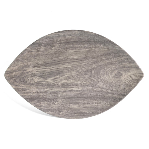 "Merritt Heartwood Leaf 16"" x 10"" Melamine Serving Tray - The Barrington Garage"
