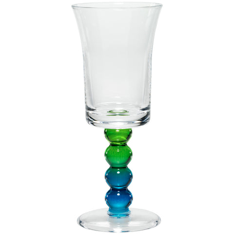 Merritt Impressions Pearl Stem Acrylic Wine Glass, Peacock - The Barrington Garage