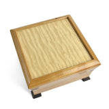 Mikutowski Woodworking Footed Pagoda Box, Curly Maple and Cherry - The Barrington Garage