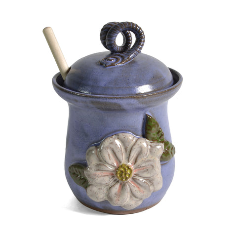 MudWorks Pottery Magnolia Honey Pot