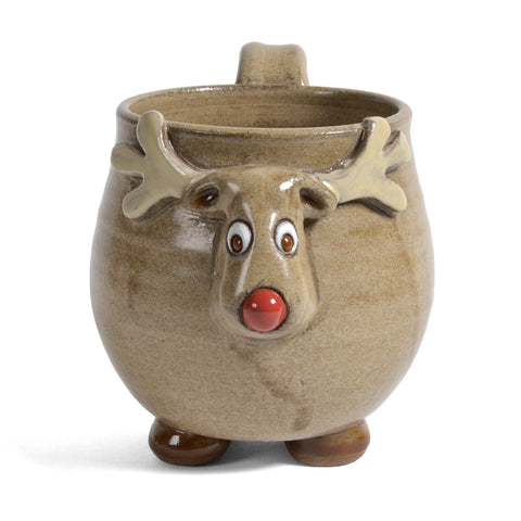 MudWorks Pottery Footed Reindeer Mug