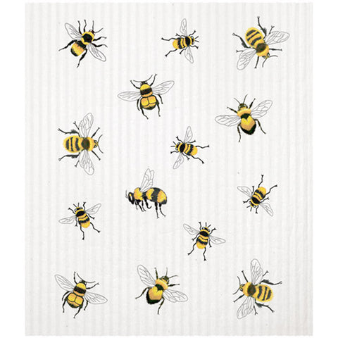 Mary Lake-Thompson Scattered Bees Sponge Cloth, Machine Washable, Biodegradable