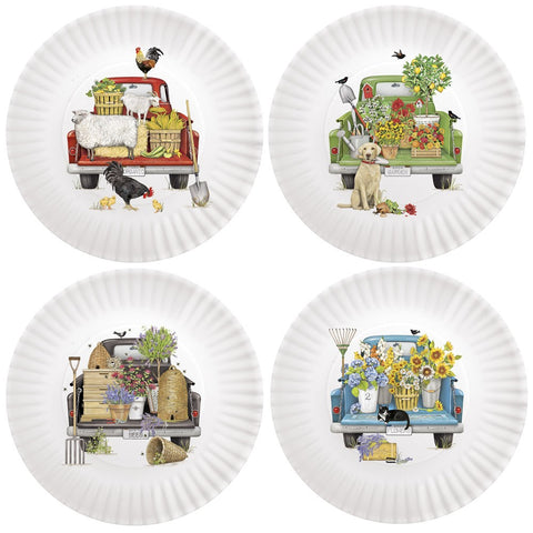 Mary Lake-Thompson Everyday Trucks 9-inch Melamine Plates, Set of 4