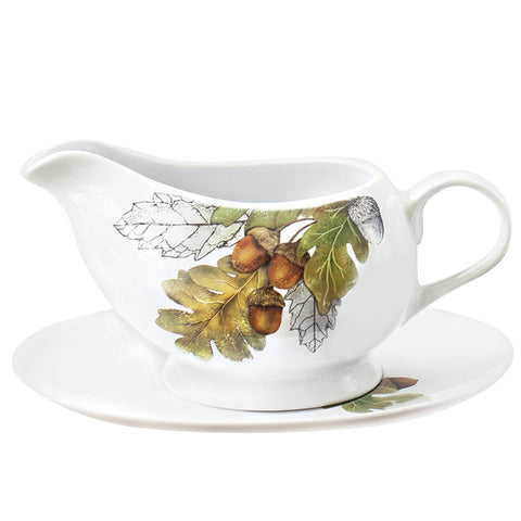 Mary Lake-Thompson Acorn 2-piece Ceramic Gravy Boat