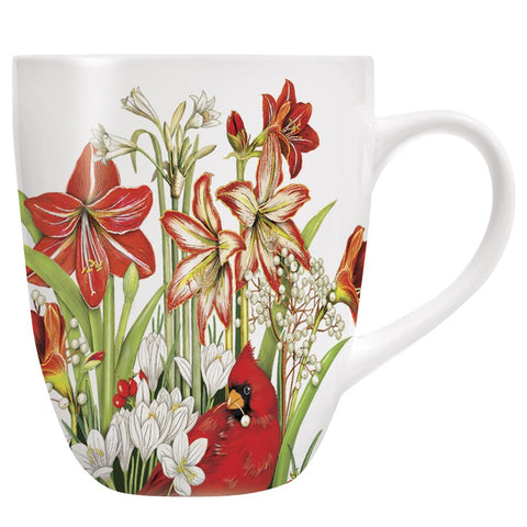 Mary Lake-Thompson Red Cardinal Amaryllis 16-ounce Stoneware Mug
