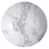 Merritt White Marble Pattern 12-inch Melamine Serving Bowl