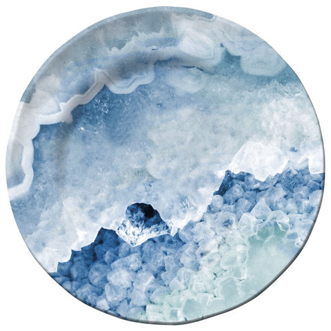 Merritt Crystal Blue Agate Melamine Salad Plate, Set of 6