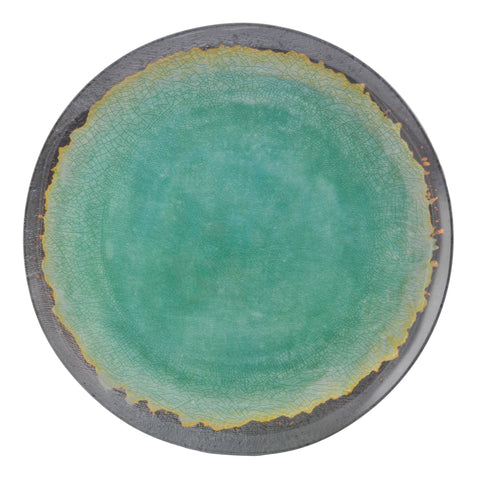 Merritt 22106 Natural Elements 9-inch Salad Plate, Turquoise
