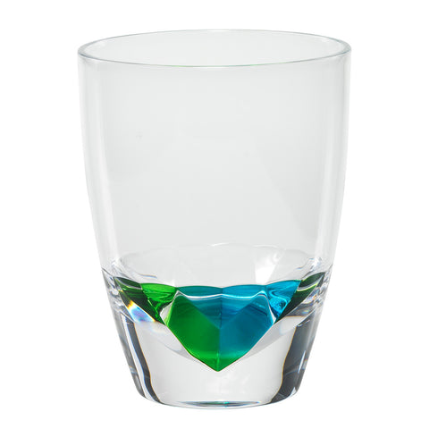 Merritt Diamond Peacock 16-oz. Double Old Fashioned Acrylic Tumbler, Set of 12