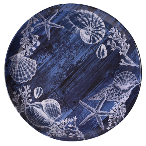 Merritt Silver Shell Coral 10.5-inch Melamine Dinner Plate, Set of 6
