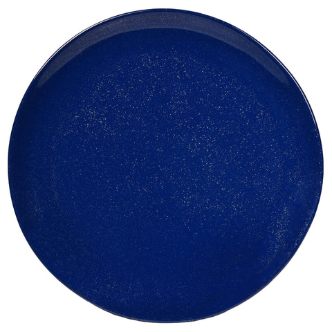 Merritt Silver Shell Blue Sparkle 10.5-inch Melamine Dinner Plate, Set of 6