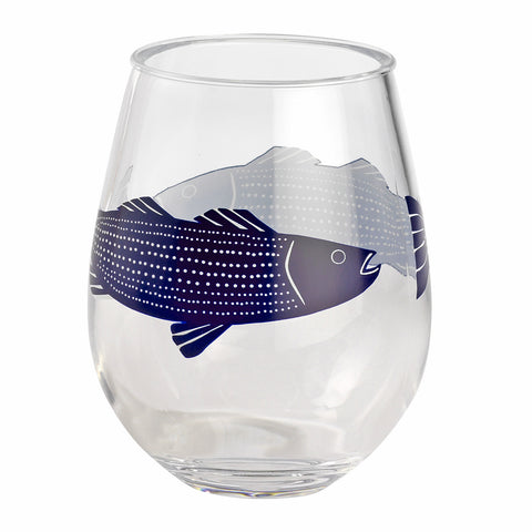 Merritt Striper by Kate Nelligan 15-ounce Acrylic Wine Tumbler