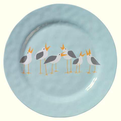 Merritt Designs Seagulls by Kate Nelligan 11.5-inch Dinner Plate, Set of 6