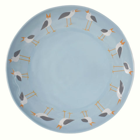 Merritt Designs Seagulls by Kate Nelligan 11.5-inch Melamine Serving Bowl