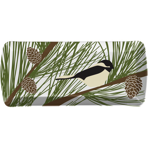 Merritt Chickadee & Pine by Kate Nelligan 15-inch Melamine Loaf Tray