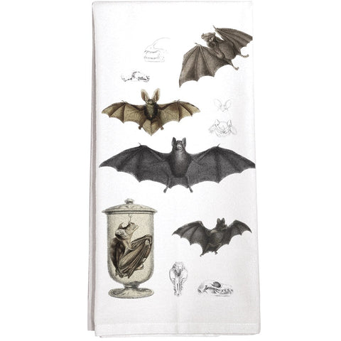 Montgomery Street Bat Collage Cotton Flour Sack Dish Towel