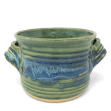 Mosquito Mud Pottery Bread Baker Deep Dish Casserole with Handles, Green