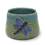 MudWorks Pottery Dragonfly Sponge Holder Front View
