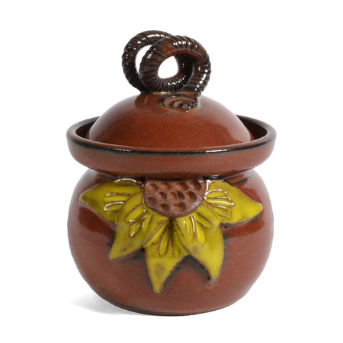 MudWorks Pottery Sunflower Garlic Keeper