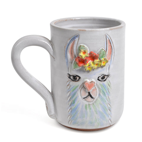 MudWorks Pottery Layla the Llama Mug, Handmade in the USA