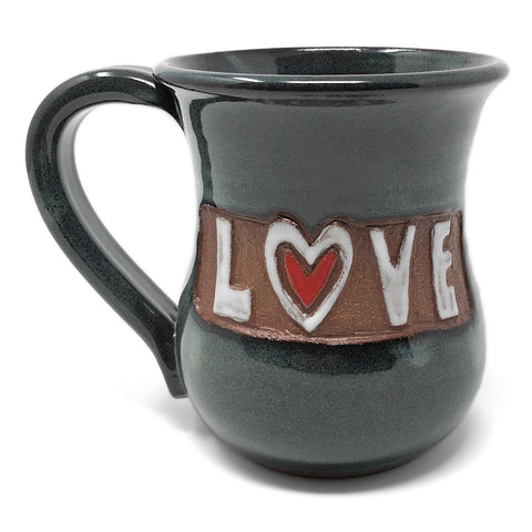 MudWorks Pottery Carved Love with Heart Mug