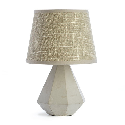 Napa Home & Garden Rex Mini 10.5-inch Cement Lamp with Linen Shade