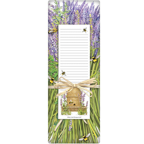 Mary Lake-Thompson Lavender Beehive Flour Sack Towel with Notepad Gift Set