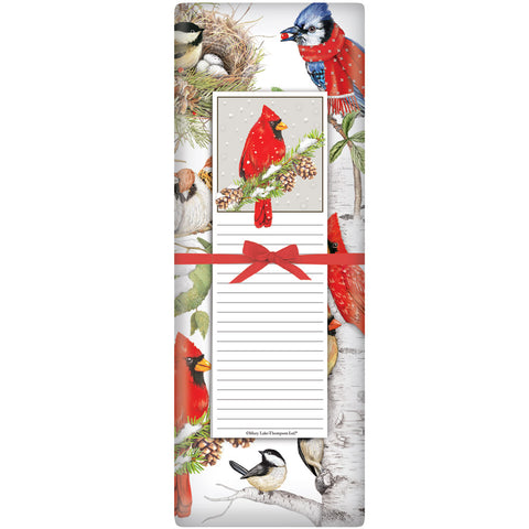 Mary Lake-Thompson Winter Birds Flour Sack Towel and Notepad Gift Set