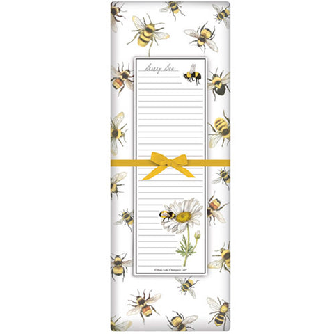 Mary Lake-Thompson Scattered Bees Flour Sack Towel with Notepad Gift Set