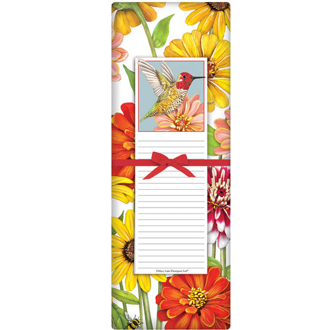 Mary Lake-Thompson Hummingbird Flour Sack Towel with Notepad Gift Set