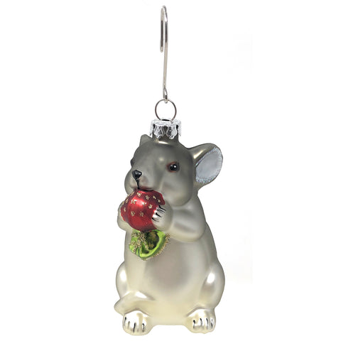 Napa Home & Garden 3.25-inch Bistro Mouse Glass Ornament