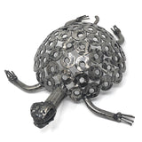 African Salvaged Metal 13-inch Tortoise Sculpture