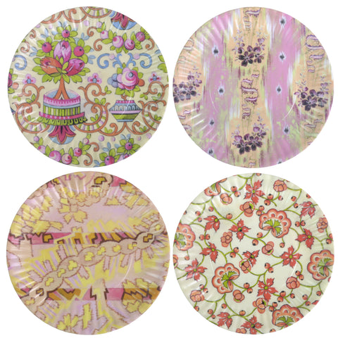 Glitterville Paris Flea Market 7.5-inch Melamine Snack Plates - The Barrington Garage