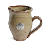 Oregon Stoneware Studio Creamer with Pewter Cow Faceplate