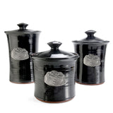 Oregon Stoneware Studio Dragonfly 3-piece Canister Set - The Barrington Garage