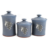 Oregon Stoneware Studio Vineyard 3-piece Canister Set