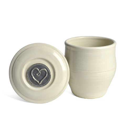 Oregon Stoneware Studio Heart French Butter Crock - The Barrington Garage