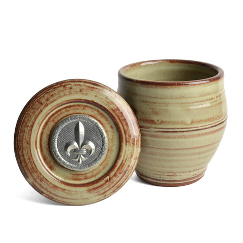 Oregon Stoneware Studio Fleur de Lys French Butter Crock - The Barrington Garage