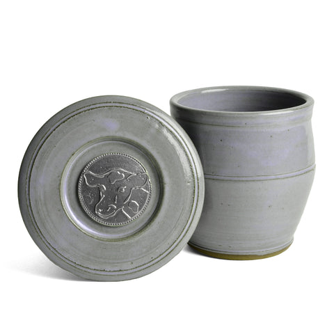 Oregon Stoneware Studio Cow French Butter Crock