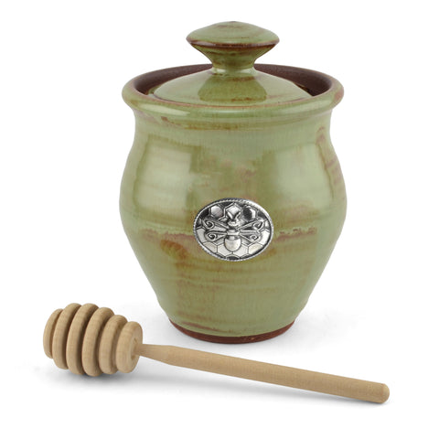 Oregon Stoneware Studio Bee Honey Pot - The Barrington Garage