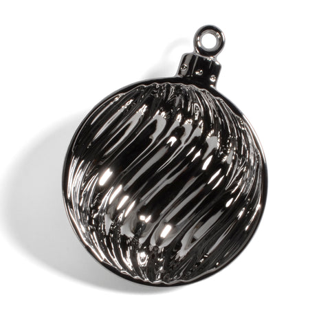 Pampa Bay Titanium-Plated Porcelain 5-inch Ornament Dish, Silver