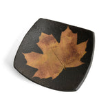 Petrified Forest Small Square Leaf Bowl, Black - The Barrington Garage