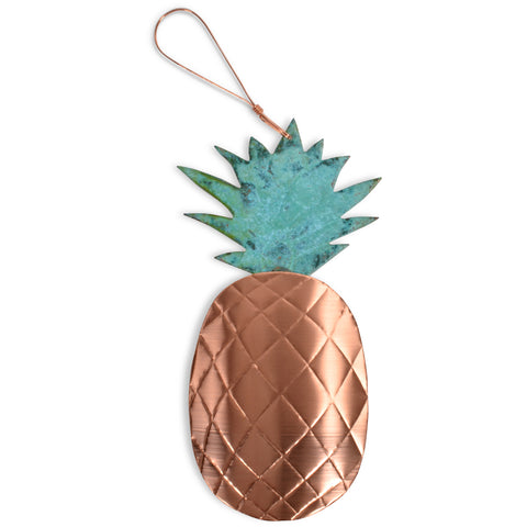 Dos Damas Designs Pineapple Copper Ornament