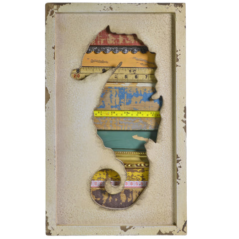 Propac Images Salvaged Mixed Media Seahorse Wall Art - The Barrington Garage