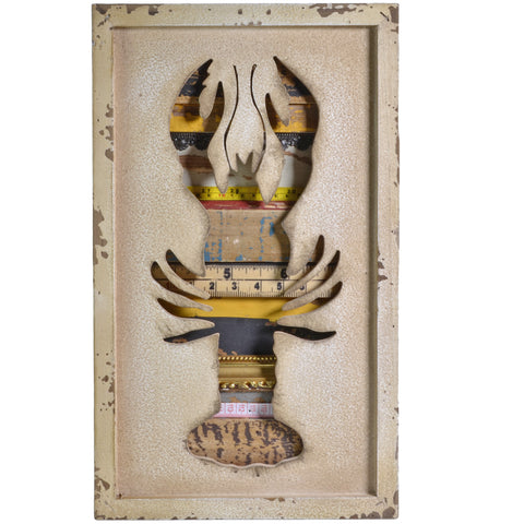 Propac Images Salvaged Mixed Media Lobster Wall Art - The Barrington Garage